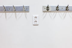 Wall coat rack Royalty Free Stock Images