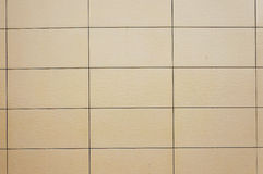 Wall coated with facing panels. Stock Photography