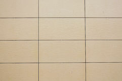 Wall coated with facing panels. Stock Images