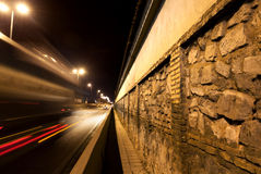 Wall cobble and road Royalty Free Stock Photos