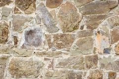 Wall of cobble-stones. An old wall of cobble-stones royalty free stock photos