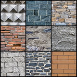 Wall collage Royalty Free Stock Photos