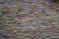 Wall of colored brick. Stock Photography