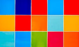 Wall of colored tiles. Abstract background Royalty Free Stock Image
