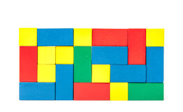 Wall of colorful building blocks Royalty Free Stock Photography