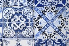 Wall from colorful ceramic tiles for background. Royalty Free Stock Photo