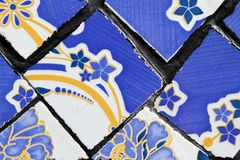 Wall from colorful ceramic tiles for background. A wall from colorful ceramic tiles for background Royalty Free Stock Image