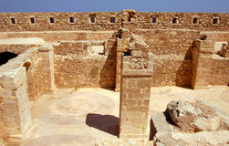 Wall and column in Firka fortress. At sun day, Crete Royalty Free Stock Images