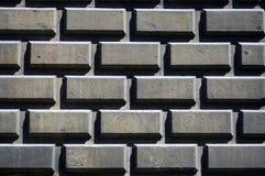 Wall of concrete blocks Royalty Free Stock Photos
