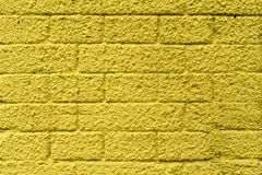 Wall of concrete blocks, painted in different colors royalty free stock photography