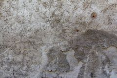 Wall of concrete and brick with plaster texture royalty free stock photos
