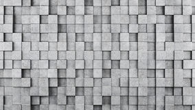 Wall of concrete cubes as wallpaper or background Royalty Free Stock Photo