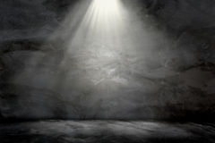Wall concrete grunge light lamp on top background texture. Royalty Free Stock Photo