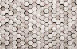Wall of concrete hexagons. As wallpaper or background stock photos