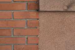 Wall concrete surface and brick texture Royalty Free Stock Image