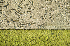 Wall of concrete with two colors Royalty Free Stock Image