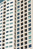 Wall of Condo Windows and Balconies Royalty Free Stock Photos