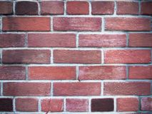 Wall constructed of handmade bricks Stock Photos