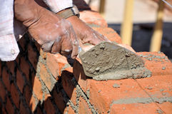 Wall construction Royalty Free Stock Photography