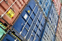 Wall of containers Royalty Free Stock Image