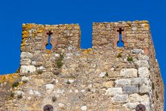 Wall of Convento de Christo Monastery, Tomar, Portugal Stock Photography