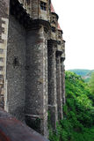 The wall of Corvin's Castle Stock Photos