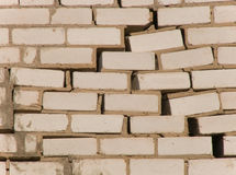 Wall in the course of laying destruction Royalty Free Stock Photography