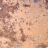 Wall covered brown peeled off paint and di Stock Photography