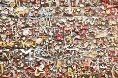 Wall covered in gum Royalty Free Stock Photos