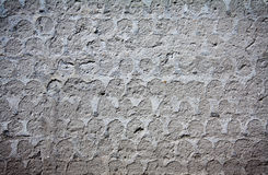 Wall covered of mortar. Wall covered with mortar with imprinting of fallen tiles Royalty Free Stock Image
