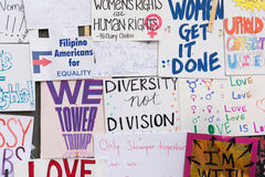 Wall covered with protest posters Stock Images