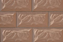 Wall covered with rectangular tiles Royalty Free Stock Image