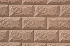 Wall covered with rectangular tiles Royalty Free Stock Photos