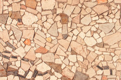 Wall Covered with Stone Pieces Stock Photos