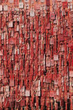 Wall covered with wish cards in Buddhist temple in Beijing, China Royalty Free Stock Images