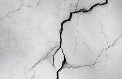 Wall with a crack.  Royalty Free Stock Photo
