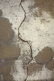 Wall crack. Crack on the building wall painted Stock Image
