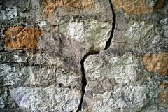 Wall with a crack Royalty Free Stock Photography