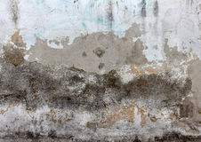 Wall with cracked paint Stock Photography