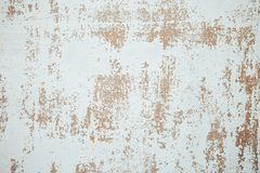 Wall with cracked paint background. Vintage background and wallpaper with space for text or image.  royalty free stock image