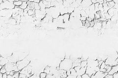 Wall with cracked paint layer, background Royalty Free Stock Images