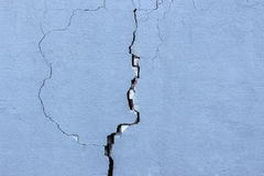 Wall with cracks. Old brick wall in a background image Royalty Free Stock Image