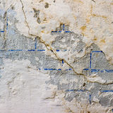 Wall with cracks texture fissure damages paint Royalty Free Stock Photos