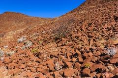 Wall of crater Namibia Stock Photos