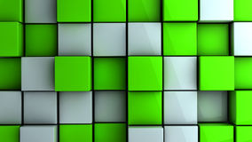 Wall of cubes Stock Photo
