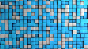 Wall of cubes Stock Photography