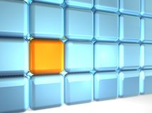 Wall of Cubes. 3d rendering of group of cubes Royalty Free Stock Photography