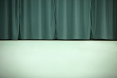 Wall and curtains Stock Photography