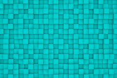 Wall of cyan cubes Royalty Free Stock Photo
