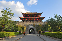 The wall of Dali old city. Dali Old City located in Yunnan Province china.The picture is the south gate of Dali old city stock photo